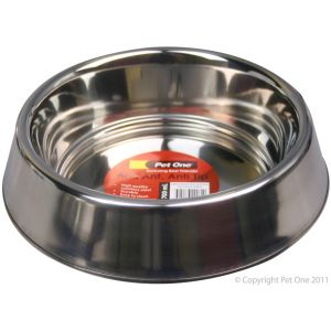 I241317-Pet One Stainless Steel Anti Ant Dog Bowl 700ml