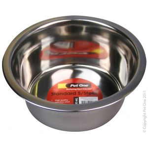 I241454-Pet One Stainless Steel Dog Bowl 750ml