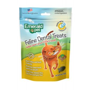 I247669-Emerald Feline Dental Treats Turducky Cat Treats 85g