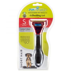 I247685-Furminator Grooming For Small Short Haired Dogs Deshed Met Red.