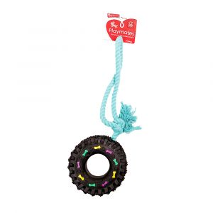 I247933-Playmates Tug With Tyre Small Dog Toy
