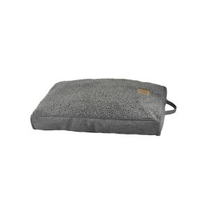 I249285-You & Me Sherpa Mattress Grey Dog Bed Small 75x50x6cm