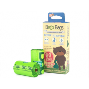 I249913-Becobags Scented Poo Bags Degradable - 4 Rolls Of 15