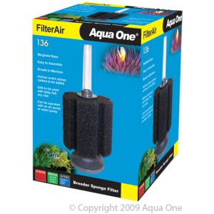 I250535-Aqua One Breeder Sponge Filter Air 136