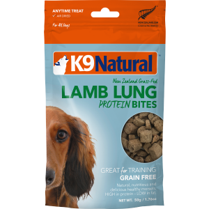 I250537-K9 Natural Nz Lamb Lung Protein Bites Dog Treats 50g