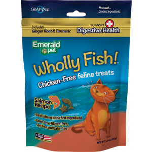 I251890-Emerald Feline Wholly Fish Treats Salmon And Digestive Health Cat Treat