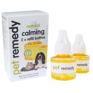 I252585-Pet Remedy Cat And Dog Calming Diffuser Refill White 2 X 40ml