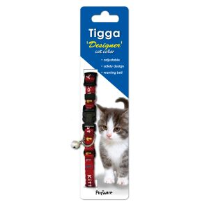 I146151-Tigga Kitten Collar Kitty Red