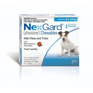 I168283-Nexgard Chewable Tablet Flea & Tick Treatment For Sml Dogs 4-10kg - 1 Pack
