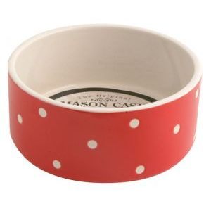 I247891-Mason Cash Red Dot Dog Bowl 130mm