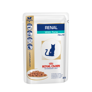 I168768-Royal Canin Vet Diet Renal Tuna Cat Food Pouch 85g
