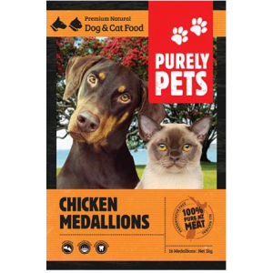 I246598-Purely Pets Frozen Chicken Medallions Dog Food