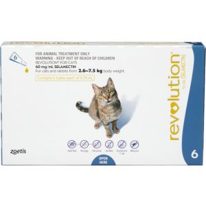I246808-Revolution Flea Treatment For Cats 2.6-7.5kg - 6 Pack
