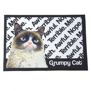 I253633-Grumpy Cat Non Slip Placement White