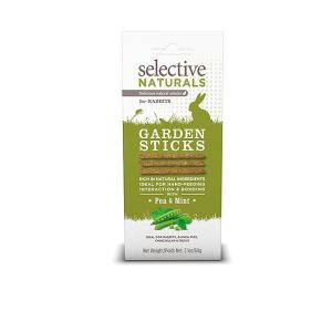 I246655-Selective Naturals Garden Sticks For Rabbits With Pea & Mint 60g