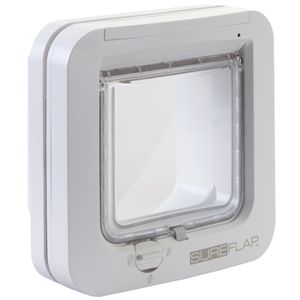 I141508-Sureflap White Microchip Cat Door