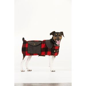 I162456-Swanndri The Classic Red & Black Dog Coat (xs)
