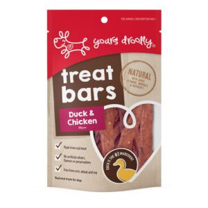 I241373-Yours Droolly Treat Bars Duck & Coconut 100g