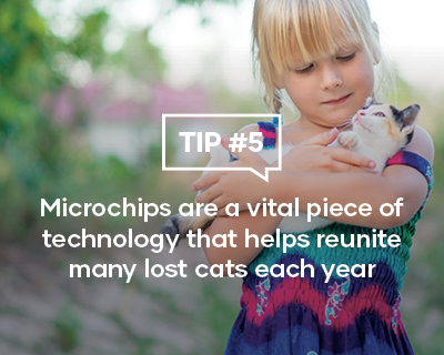 Microchips are a vital piece of technology that helps reunite many lot cats each year