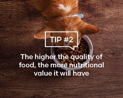 The higher the quality of food, the more nutritional value it will have