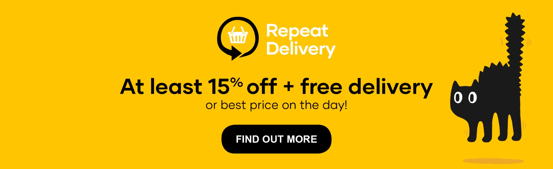 Cat Repeat delivery   Get at least 15 percent off and free delivery   with repeat delivery   learn more