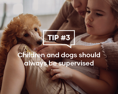 Children and Dogs should always be supervised