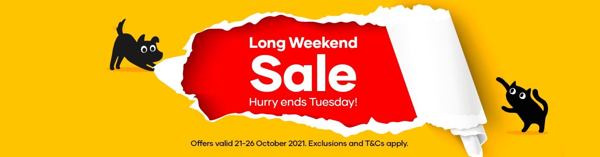 Long Weekend Sale!