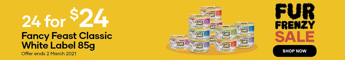 24 for $24 on Fancy Feast Classic white label 85 grams. Offer ends 2 March 2021.